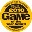 Creative Child Magazine 2010 Game of the Year Badge